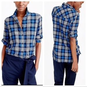 J. Crew Boy Weekend Plaid Button Down Shirt